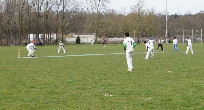 Cricket-Schnuppertraining an der Weser