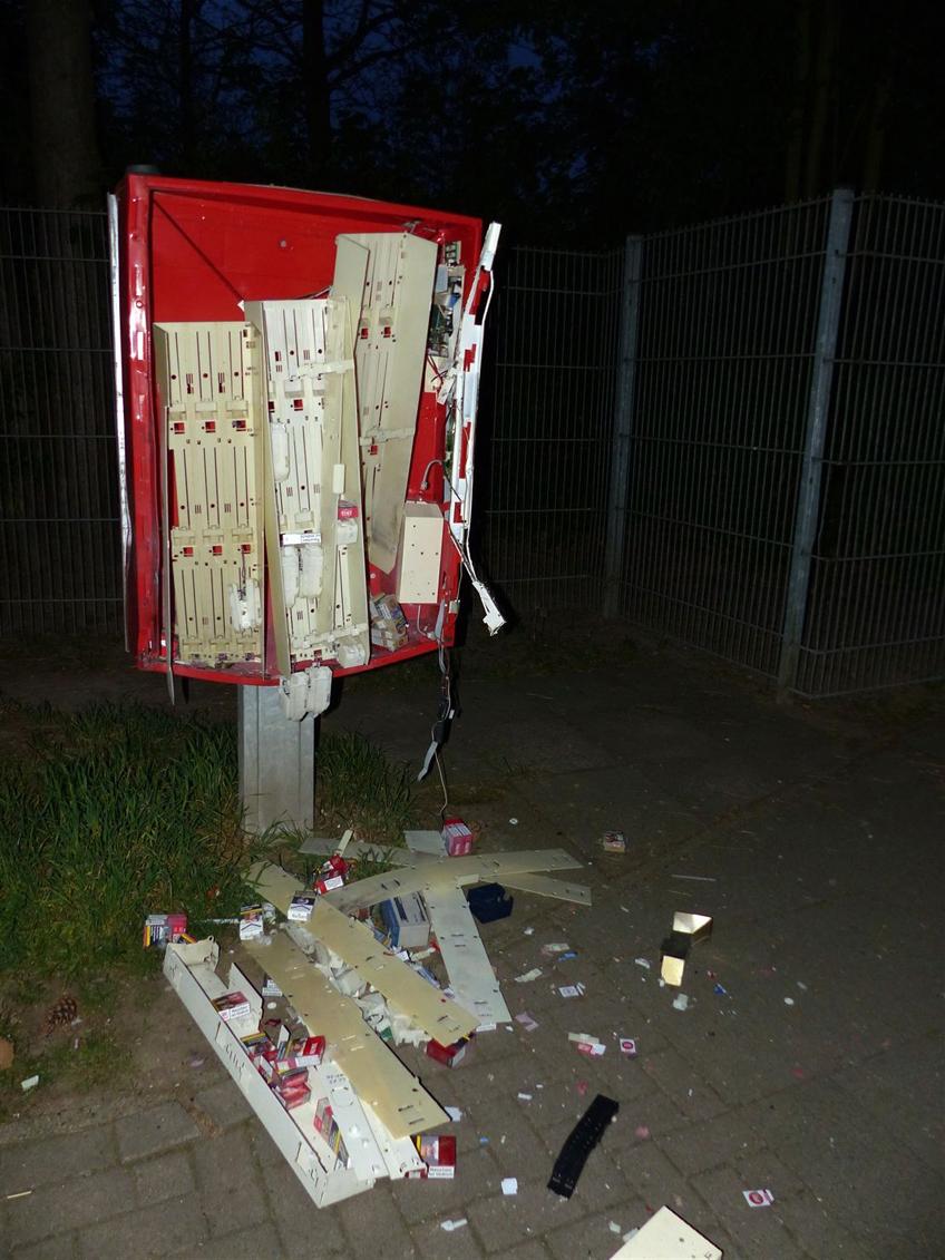 Zigarettenautomaten gesprengt