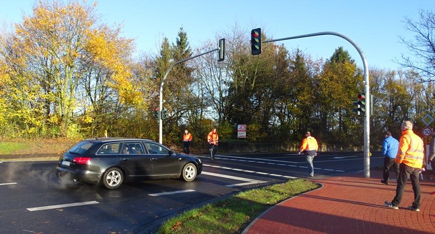 Mehr Sicherheit für Fußgänger und Radfahrer in Aminghausen