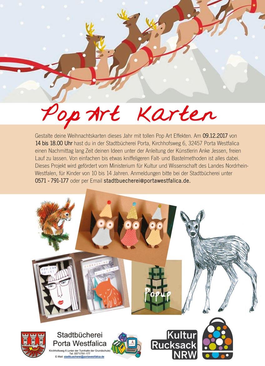 Weihnachtskarten im 'Pop Art' Stil selbst gestalten