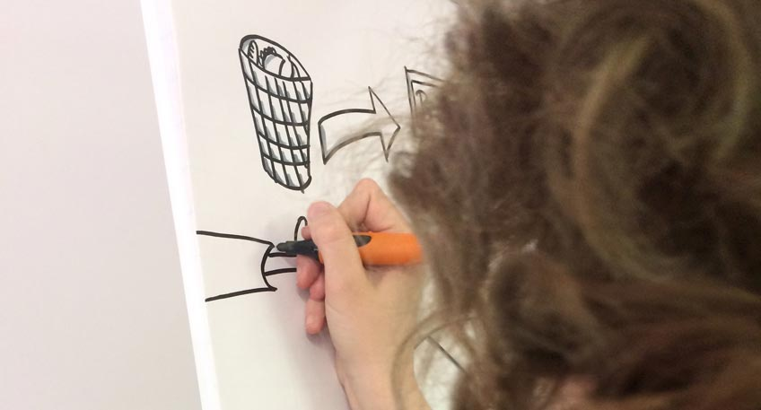 'Live Zeichnen'-Workshop in Minden war erfolgreich