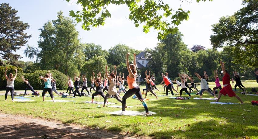 Fitness und Entspannung im Kurpark von Bad Oeynhausen