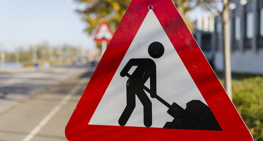 Bauarbeiten und Behinderungen im Stadtgebiet