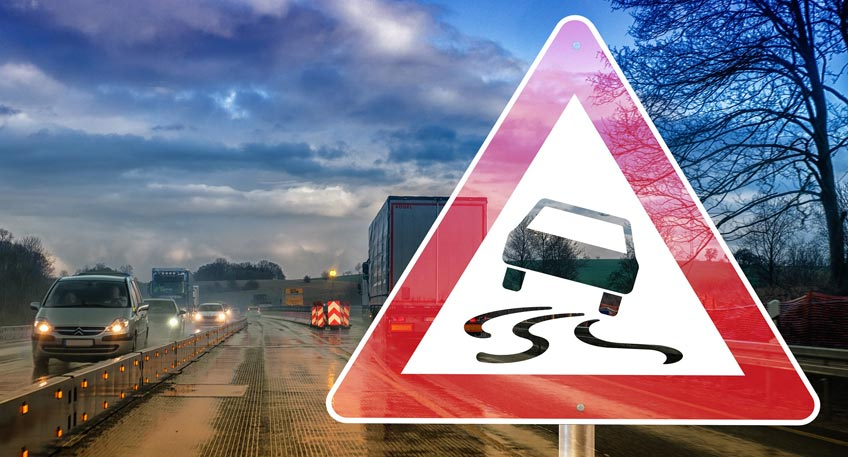 Vorsicht Aquaplaning - Wenn das Auto außer Kontrolle gerät