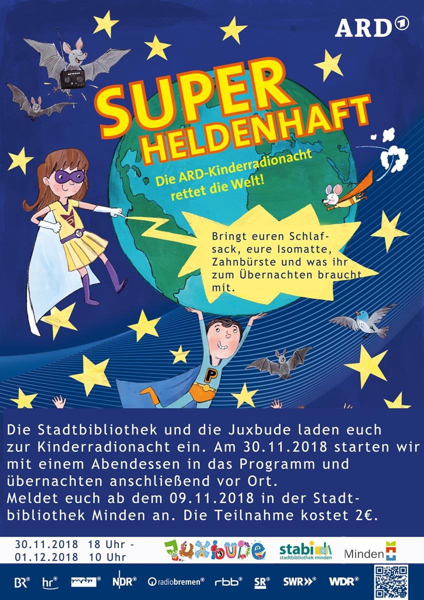 ARD-Kinderradionacht live in der Juxbude und Bibliothek
