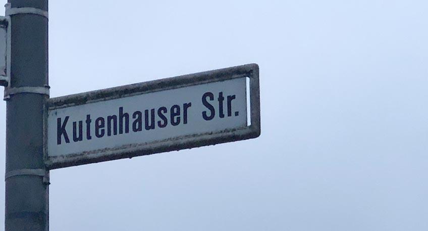 Fahrbahneinengung auf Kutenhauser Straße