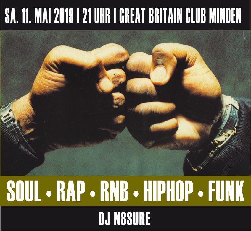 Great britain club oldschool hip hop party