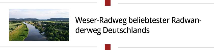 Weser-Radweg beliebtester Radwanderweg Deutschlands