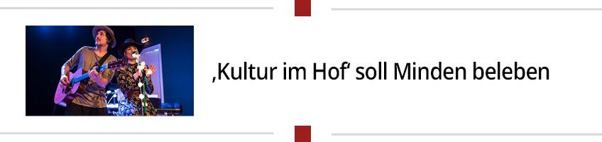 'Kultur im Hof' soll Minden beleben