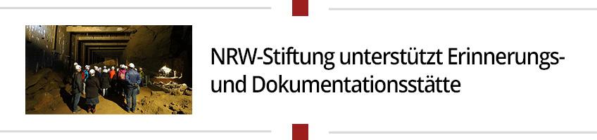NRW-Stiftung unterstützt Erinnerungs- und Dokumentationsstätte