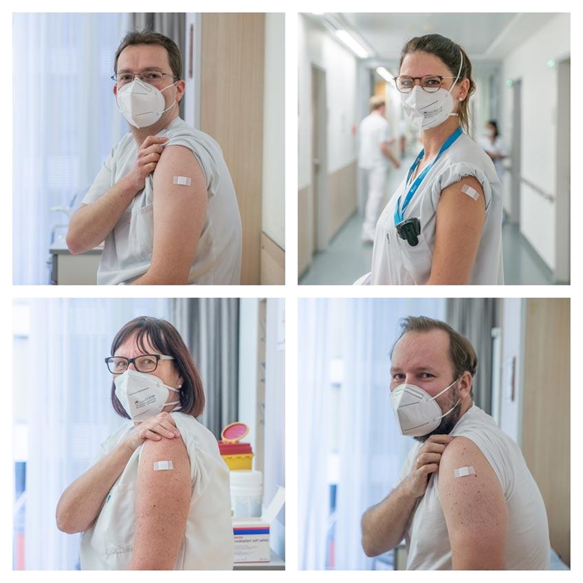 Am ersten Tag der Impfkampagne der Mühlenkreiskliniken sind 400 Impfdosen am Johannes Wesling Klinikum Minden, dem Krankenhaus Lübbecke und dem Medizinischen Zentrum für Seelische Gesundheit verimpft worden.