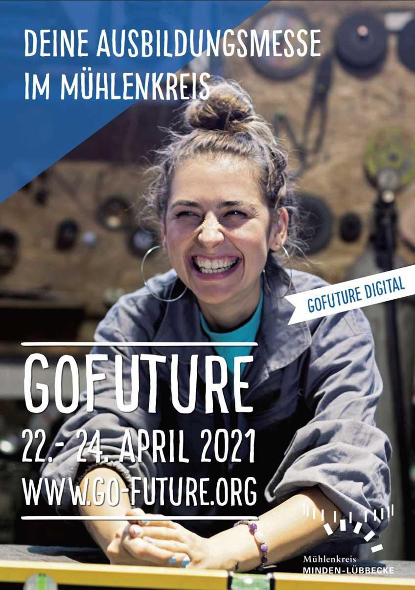 Die GOFUTURE geht in ihrem 20. Jahr neue Wege. Die bekannte Berufsinformationsbörse aus dem Mühlenkreis findet vom 22.-24. April 2021 das erste Mal digital statt.