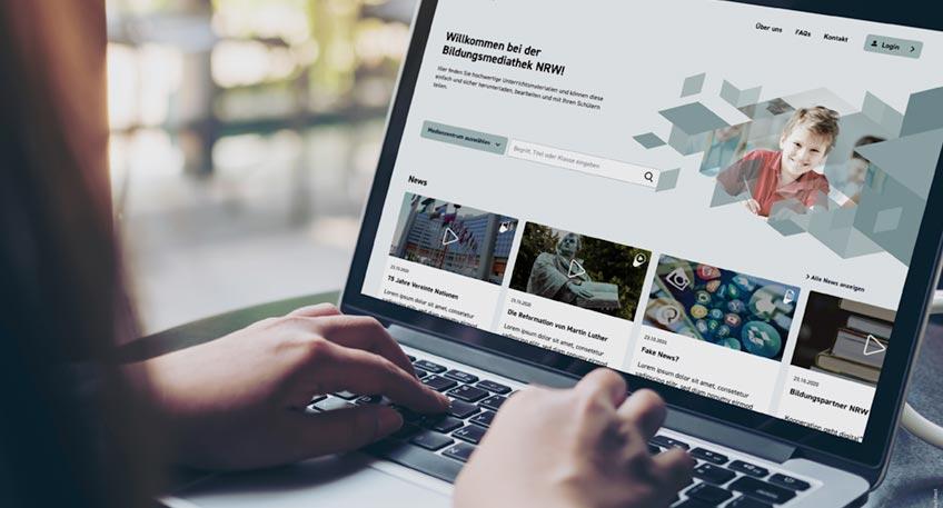 """Zum neuen Schuljahr ging die """"Bildungsmediathek NRW"""" an den Start. Das neue Internetportal stellt Lehrerinnen und Lehrern, sowie Schülerinnen und Schülern ein umfangreiches Angebot an digitalen Lernmitteln von A wie Antisemitismus bis Z wie Zahlen zur Verfügung."""