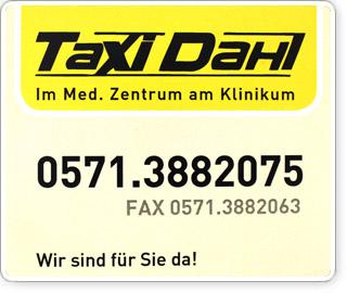 Taxi Dahl, Minden Porta Westfalica