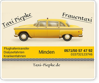Taxi piepke frauentaxi minden hallo minden