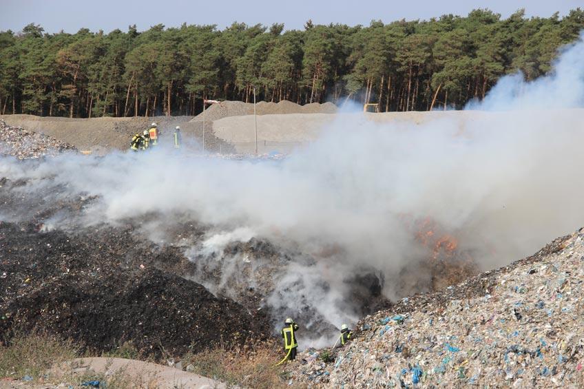 Großbrand auf der Pohlschen Heide