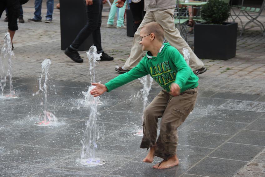 Eröffnung des Brunnen am Marktplatz