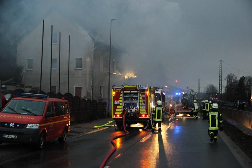 Hausbrand an der B 482