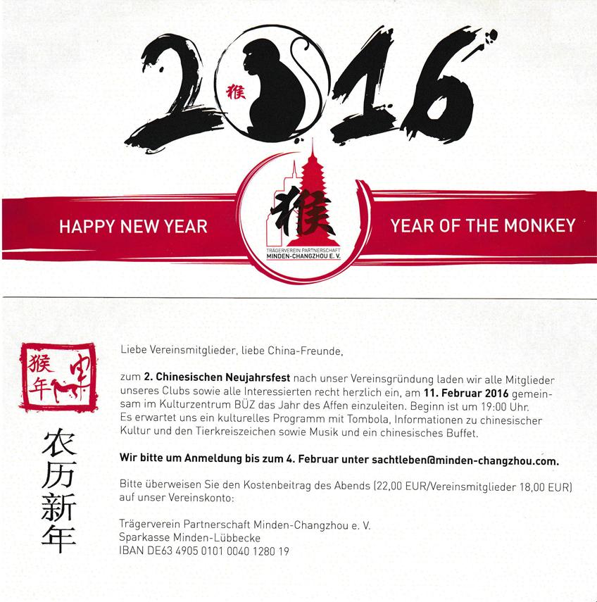Nachrichten Minden - Veranstaltung: Chinesisches Neujahrsfest ...